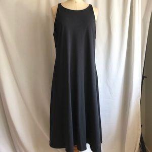 Eileen Fisher Black midi dress XL short sleeve